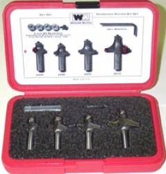 "Whiteside Roundover and Beading Router Bit Set 1/2"" shank"