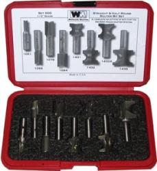 "Whiteside Incra Hingecrafter 8 Piece Router Bit Set 1/2"" shank"